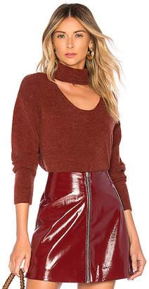 Michelle Mason Turtleneck Plunge Sweater