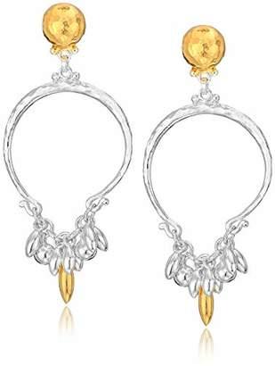 Gurhan Women's Vertigo Flurries Collection Sterling Tassel Hoop Post Drop Earring
