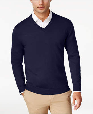 Club Room Men's Merino Performance V-Neck Sweater