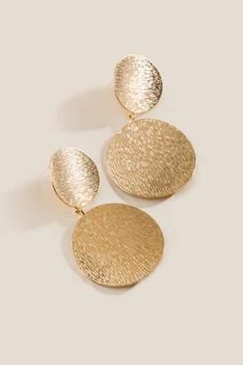 francesca's Gia Double Circle Drop Earrings - Gold