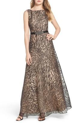 Women's Ellen Tracy Burnout Organza Gown $218 thestylecure.com
