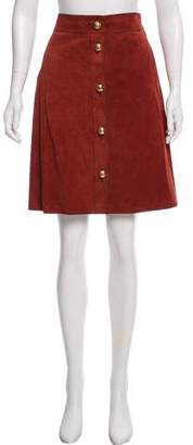 Gucci Leather Knee- Length Skirt