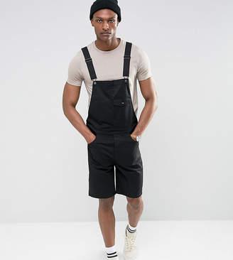 Asos Design TALL Short Dungarees In Black