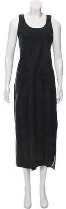 Calvin Klein Collection Embellished Suede Dress Grey Embellished Suede Dress