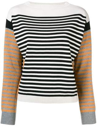 Alberta Ferretti colour-block striped sweater