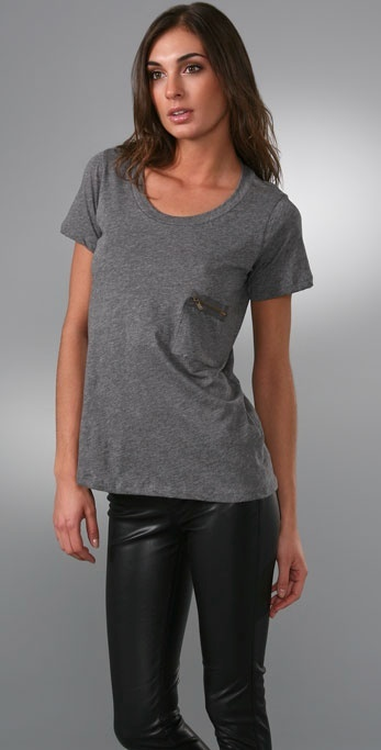 Lna Short Sleeve Zip Pocket Tee