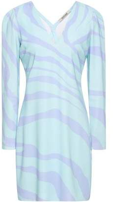 Roberto Cavalli Zebra-print Stretch-crepe Mini Dress