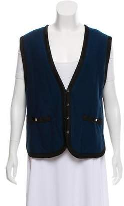 Sonia Rykiel Quilted Button-Up Vest