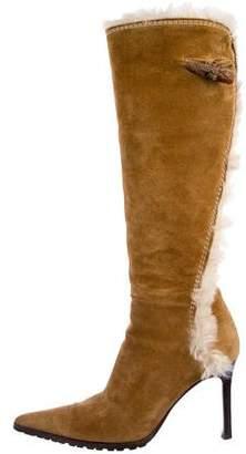 Giuseppe Zanotti Fur-Lined Knee-High Boots