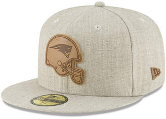 New Era New England Patriots Heathered Helmet 59FIFTY Fitted Cap