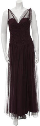 Vera Wang Ruched-Accented Tulle Gown $180 thestylecure.com