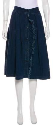 Band Of Outsiders Pleated Button-Up Skirt