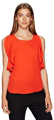 Jones New York Women's Flutter SLV High Low Blouse