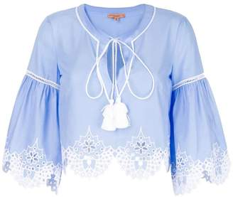 Ermanno Scervino embroidered hem blouse
