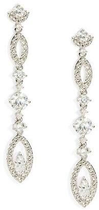 Nadri Cubic Zirconia Linear Drop Earrings $70 thestylecure.com