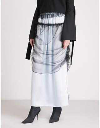 QUETSCHE Layered silk-blend, tulle and silk-organza skirt
