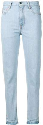 Marcelo Burlon County of Milan bleached tapered jeans