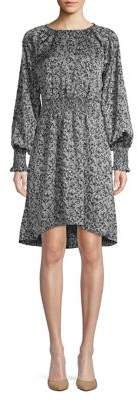 Halston H Floral-Print Shift Dress