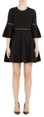 Carven Bell Sleeve Fit-&-Flare Dress