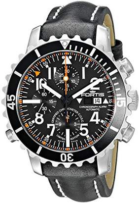 Fortis Men's 673.10.41 L.01 B-42 Marinemaster Chronograph Alarm Chronometer C.O.S.C. Analog Display Automatic Self Wind Black Watch