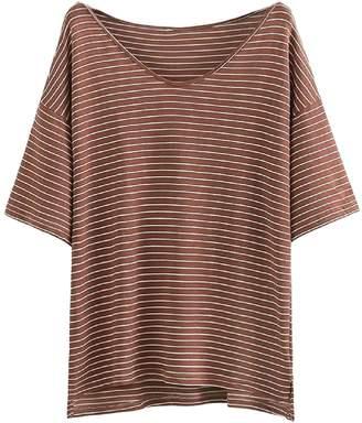 Goodnight Macaroon 'Alora' Oversized Striped T-Shirt (3 Colors)