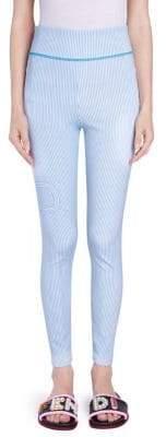 Striped Logo Skinny Pants