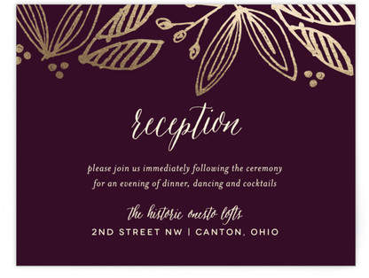 Belle Foil-Pressed Reception Cards