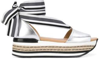 Hogan tie platform sandal