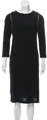 Joseph Zipper-Accented Wool Dress