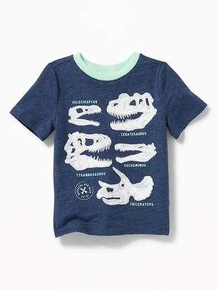 Old Navy Dinosuar-Skull Graphic Tee for Toddler Boys