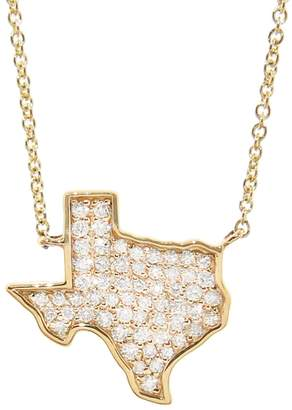 Sydney Evan Diamond Texas Outline Pendant Necklace