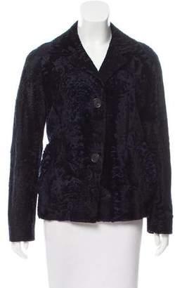 Prada Persian Lamb Button-Up Jacket
