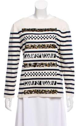 Marc Jacobs Striped Embellished Top