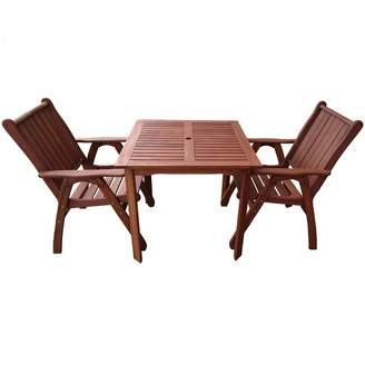 Woodlands Outdoor Furniture 2 Seater Square Outdoor Dining Table & Chairs Set