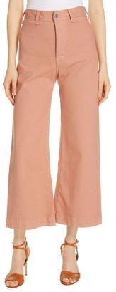 Veronica Beard Cynthia Crop Wide Leg Jeans