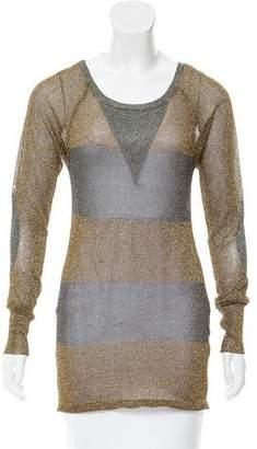 Etoile Isabel Marant Sheer Metallic Top
