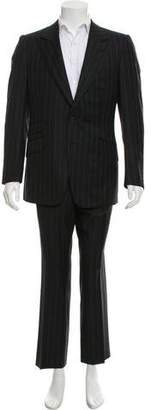 Gucci Wool Pinstripe Suit