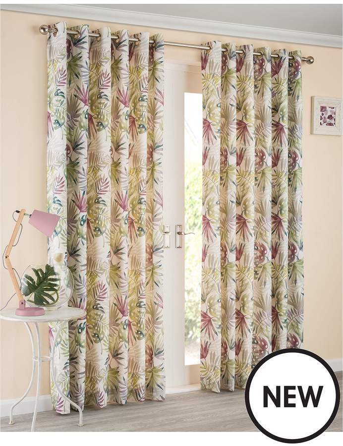 Paradise Lined Eyelet Curtains