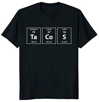 Funny Taco Shirt Tacos Periodic Table Tees Science Nerd Gift