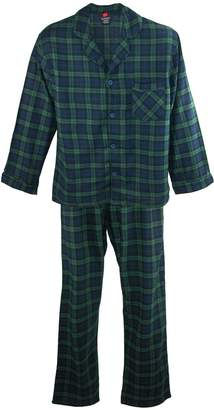 Hanes Men's Cotton Flannel Pajama Set, XXL