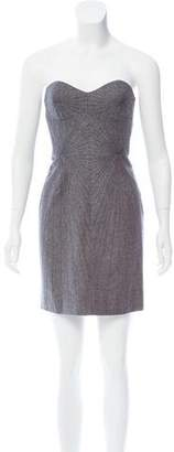 Brian Reyes Strapless Mini Dress
