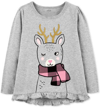 Carter's Baby Girls Reindeer Graphic Cotton T-Shirt