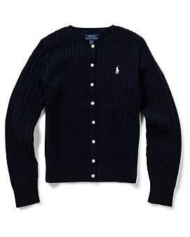 Polo Ralph Lauren Cable-Knit Cotton Cardigan (8-14 Years)
