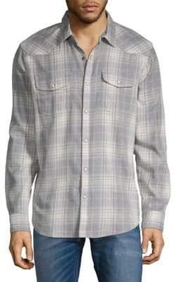 Lucky Brand Santa Fe Plaid Western Shirt