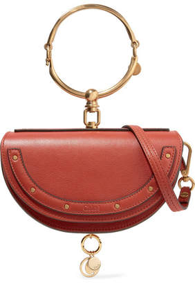 Chloé Nile Bracelet Mini Leather Shoulder Bag - Red
