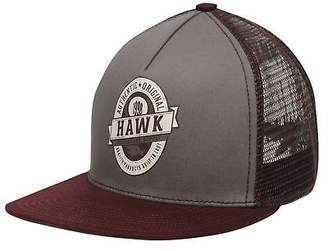 Tony Hawk Mens Crest Cap Flat Peak Mesh Print Printed Snapback Panel Design