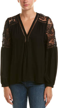 Hale Bob Lace Yoke Top
