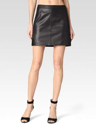 Johanna Skirt - Black Leather $498 thestylecure.com
