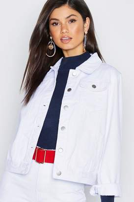 boohoo White Denim Jacket
