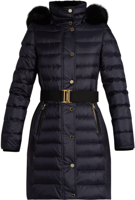 BURBERRY LONDON Abbeydale fur-trimmed quilted down coat $1,399 thestylecure.com
